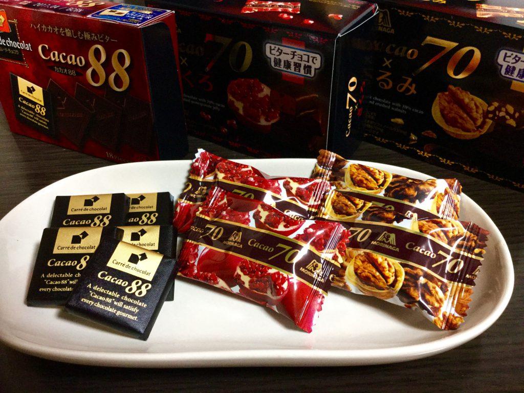 森永製菓「カレ・ド・ショコラ カカオ88」「カカオ70×くるみ」「カカオ70×ざくろ」お菓子問屋が食べたくなるおすすめ商品レビュー